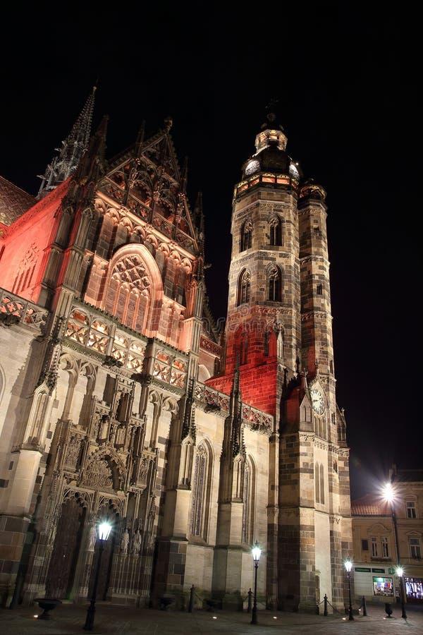 Kathedraal van St Elisabeth in Kosice, Slowakije royalty-vrije stock foto