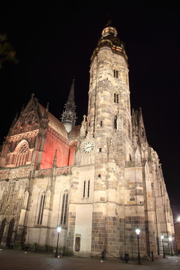 Kathedraal van St Elisabeth in Kosice, Slowakije stock foto's