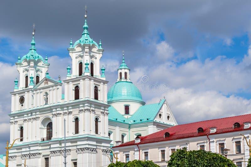 Kathedraal van St Francis Xavier in Grodno, Wit-Rusland royalty-vrije stock foto's