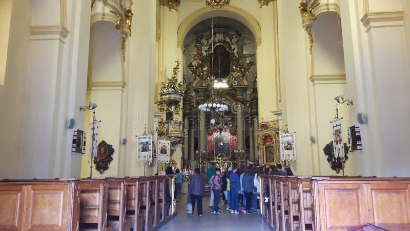 """Kathedraal van St George Cathedral †de"""" belangrijkste Griekse Katholieke Kathedraal in Lviv stock afbeeldingen"""