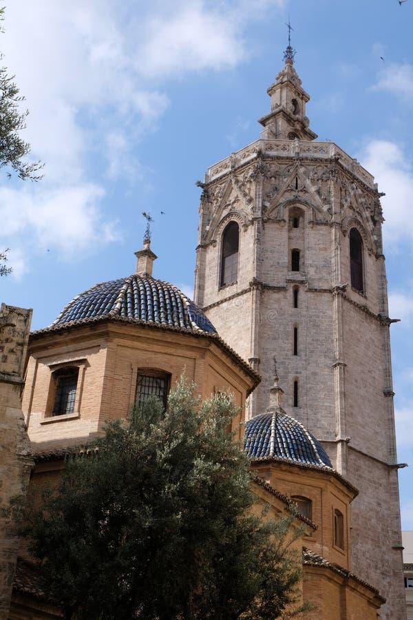 Kathedraal van St Mary van Valencia in Spanje stock afbeelding