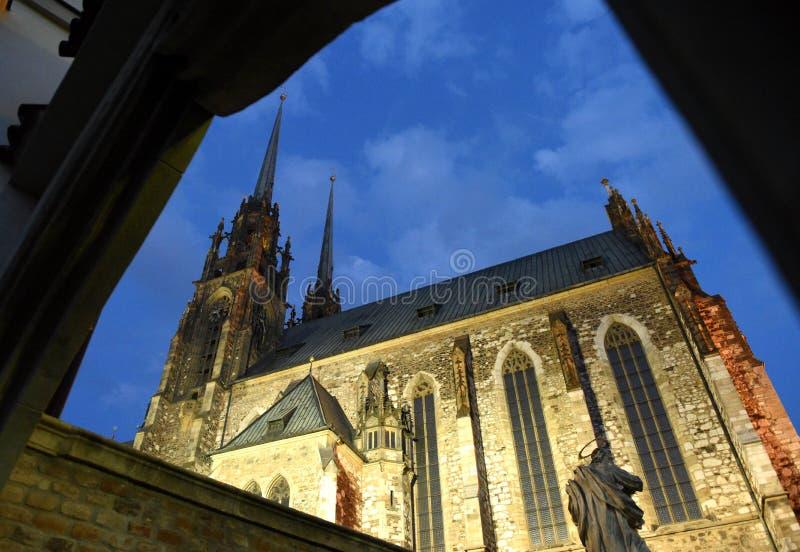 Kathedraal van St Peter en Paul in Brno, Tsjechische republiek royalty-vrije stock afbeelding