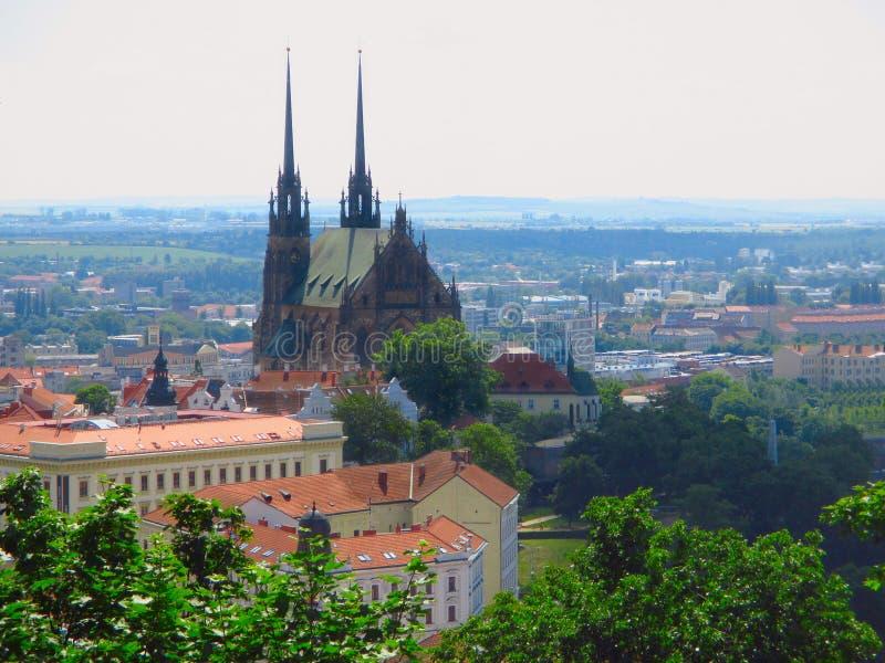 Kathedraal van St Peter en Paul Brno, Tsjechische Republiek royalty-vrije stock foto