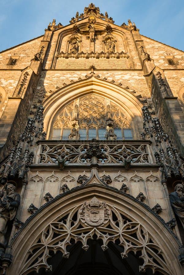 Kathedraal van St Peter en Paul in Brno, Tsjechische republiek royalty-vrije stock foto's