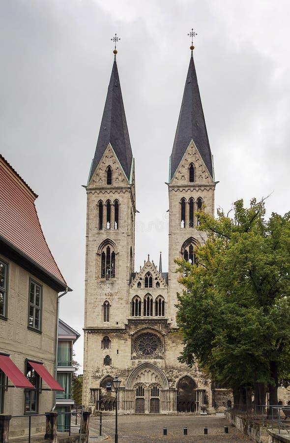 Kathedraal van St. Sephan, Halberstadt, Duitsland stock foto