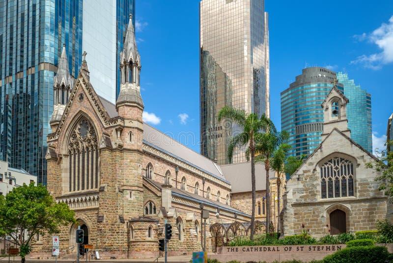 Kathedraal van St Stephen in Brisbane, Australië royalty-vrije stock fotografie