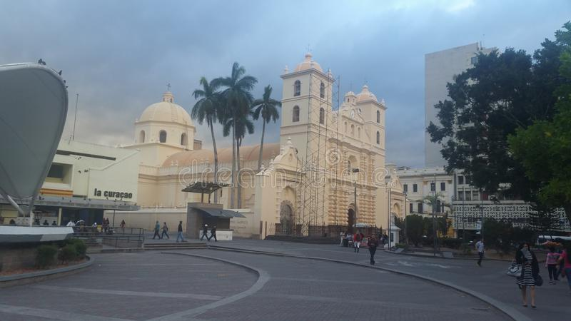 Kathedraal van Tegucigalpa, Honduras CA royalty-vrije stock foto