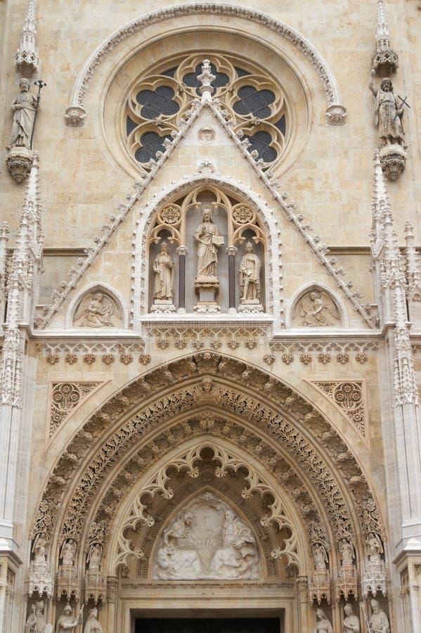 Kathedraal van Zagreb royalty-vrije stock foto