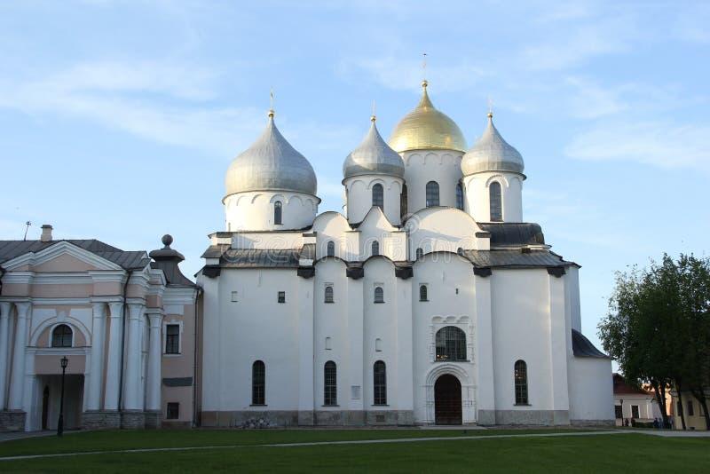 Kathedraal in Velikiy Novgorod stock fotografie