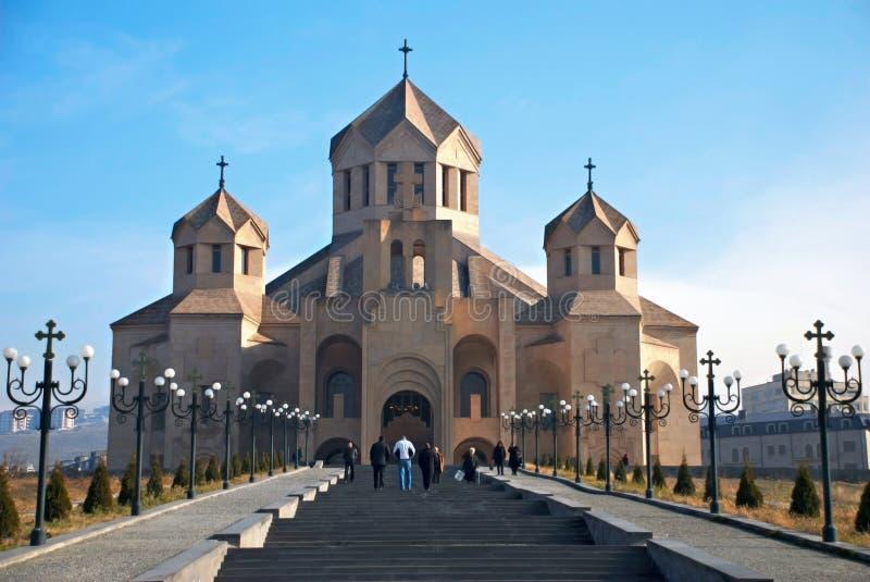Kathedraal in Yerevan royalty-vrije stock afbeelding