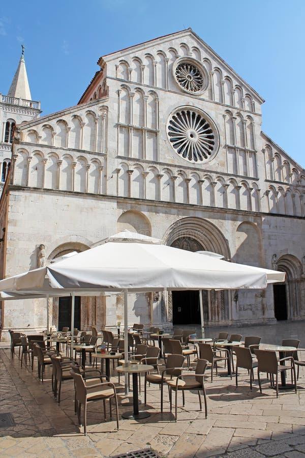 Kathedraal in Zadar Kroatië royalty-vrije stock foto