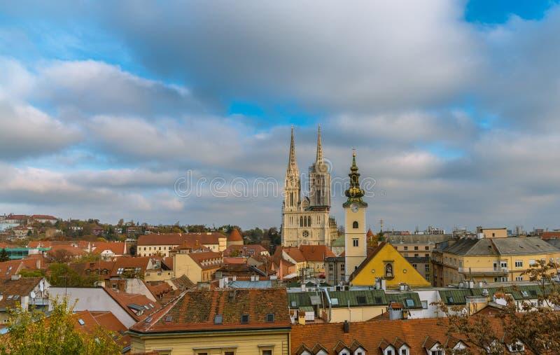 Kathedraal Zagreb royalty-vrije stock afbeelding