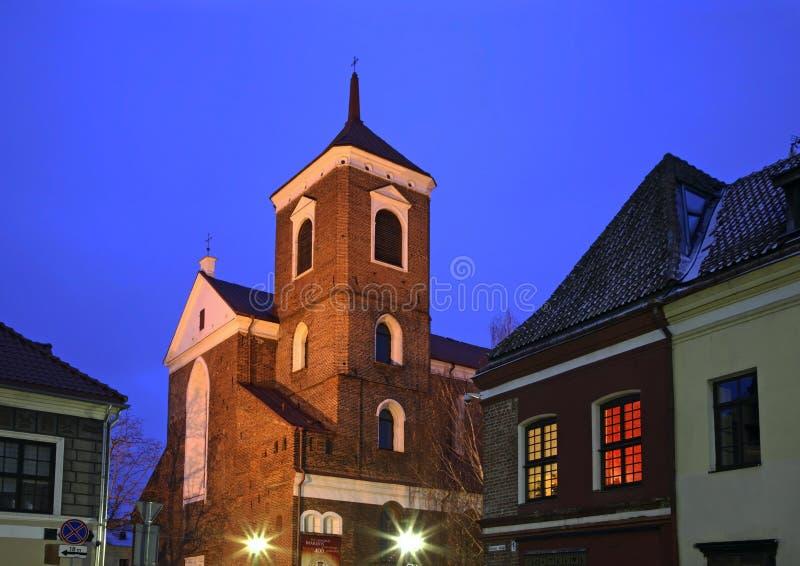Kathedraalbasiliek van St Peter en St Paul in Kaunas litouwen stock afbeeldingen
