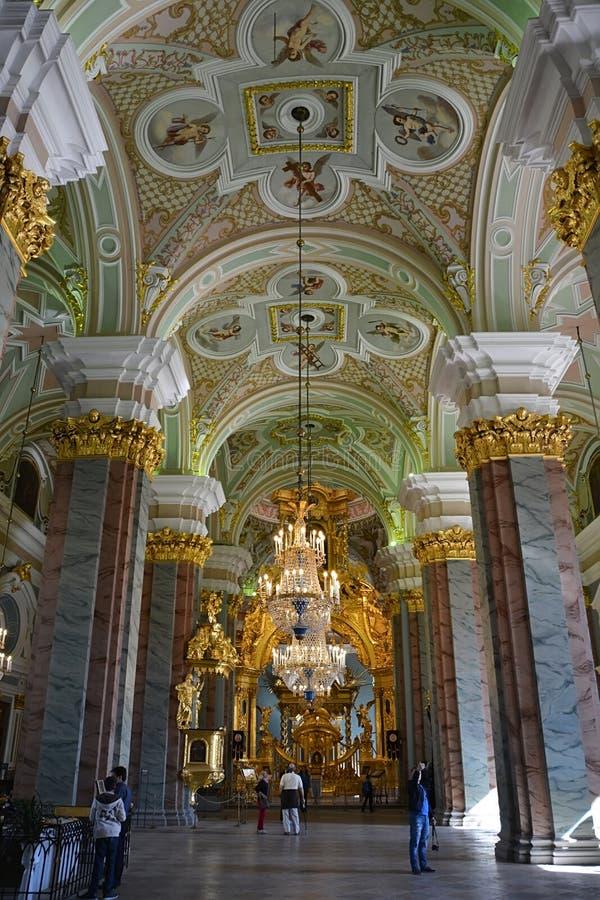 Kathedraalbinnenland in Peter en van Paul vesting royalty-vrije stock fotografie