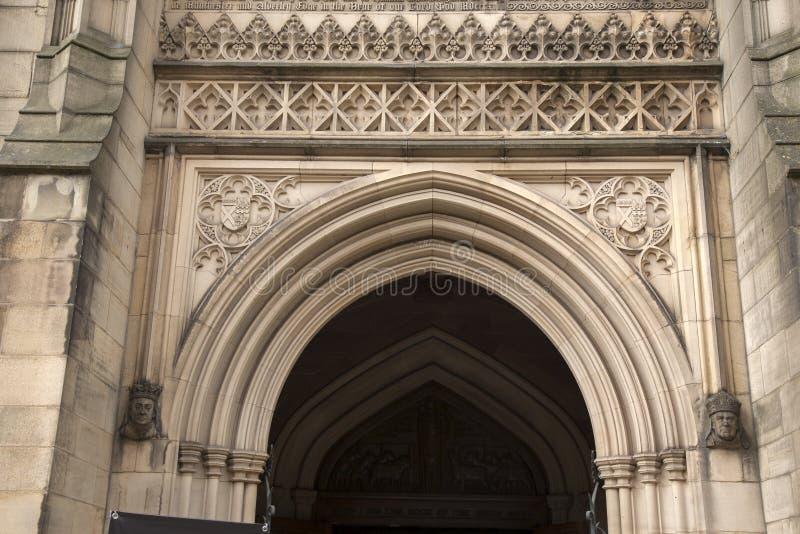 Kathedraalkerk in Manchester, Engeland stock afbeelding