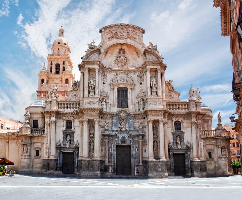 Kathedraalkerk van Heilige Mary in Murcia, Spanje royalty-vrije stock foto's
