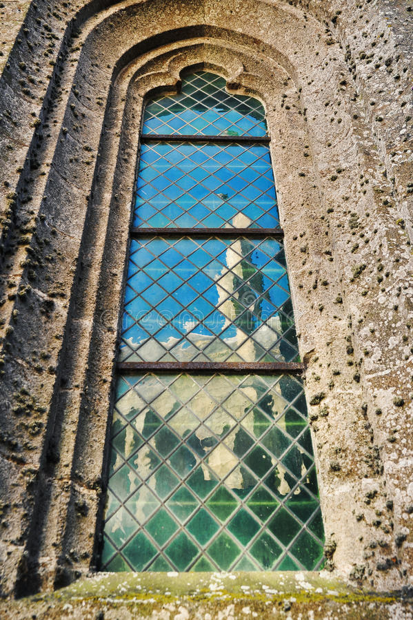 Kathedraalvenster royalty-vrije stock afbeelding
