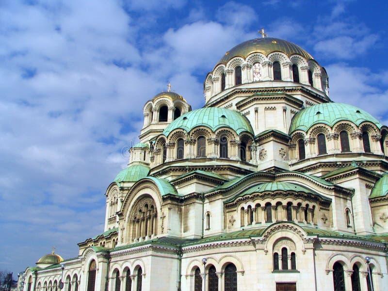 Kathedrale Alexander Nevski in Sofia stockbilder