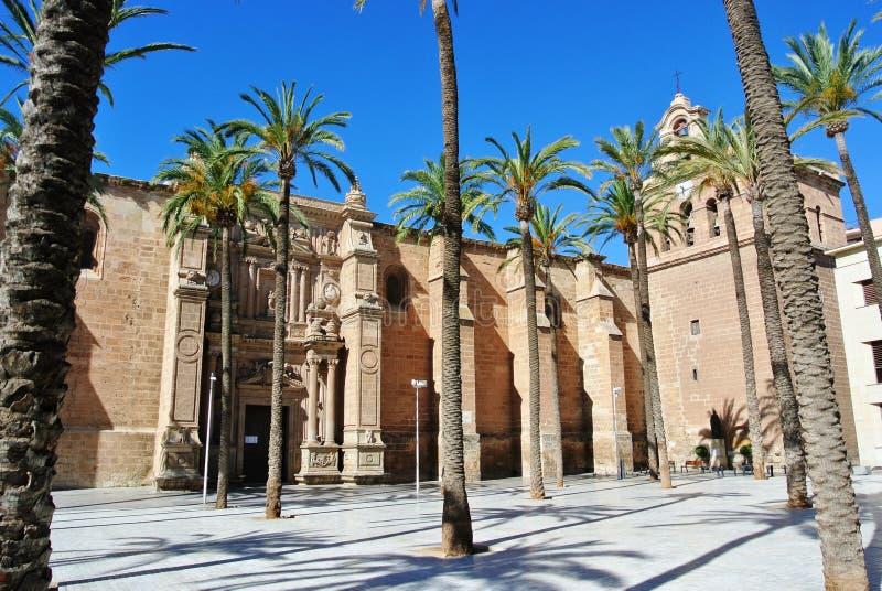 Kathedrale in Almeria lizenzfreie stockfotografie