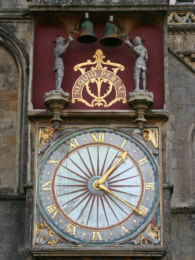 Kathedrale-Borduhr lizenzfreie stockfotos
