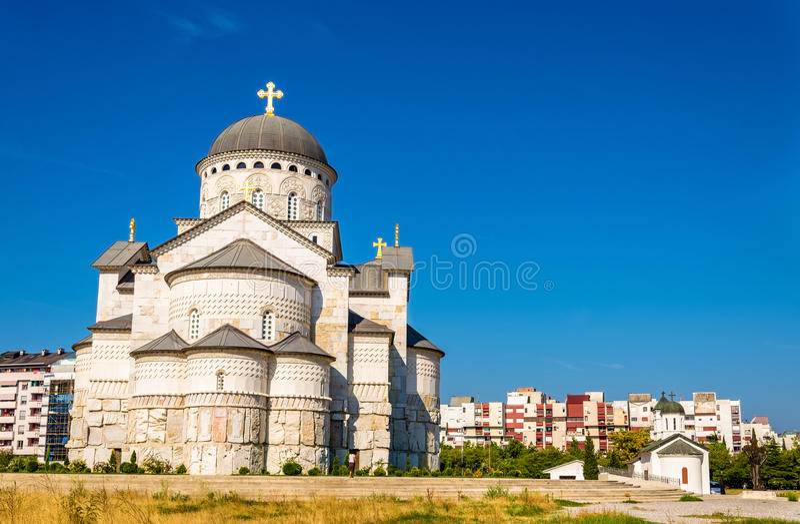 Kathedrale der Auferstehung von Christus in Podgorica stockfotos