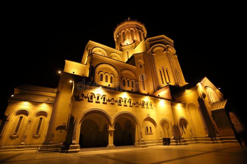 Kathedrale der Heiligen Dreifaltigkeit von Tiflis, Georgia lizenzfreies stockfoto