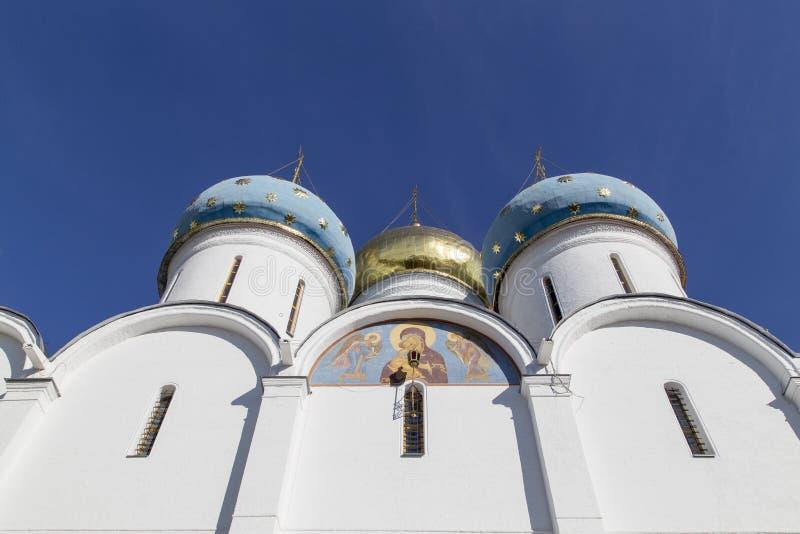 Kathedrale der Jungfrau Maria in Sam-sergei Abtei, Russische Föderation lizenzfreies stockbild
