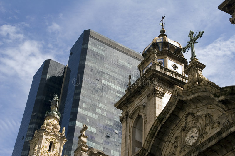 Kathedrale in der Mitte von Rio de Janeiro stockbild