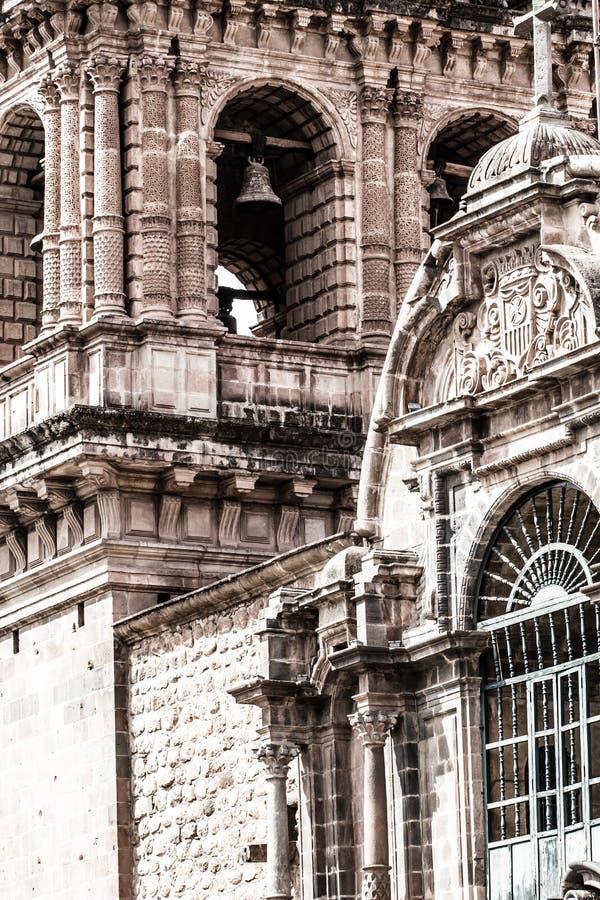 Kathedrale in der Stadt von Cuzco, Peru stockfotos