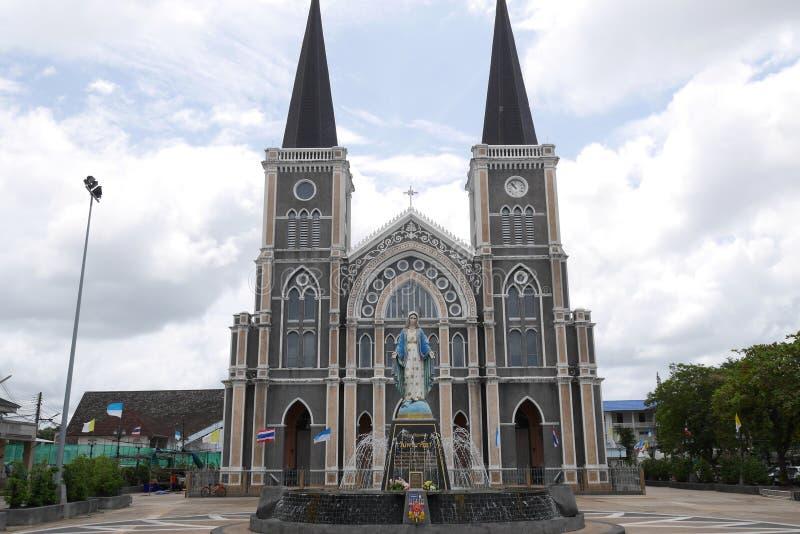 Kathedrale der Unbefleckten Empfängnis in Chantaburi Thailand stockfotos
