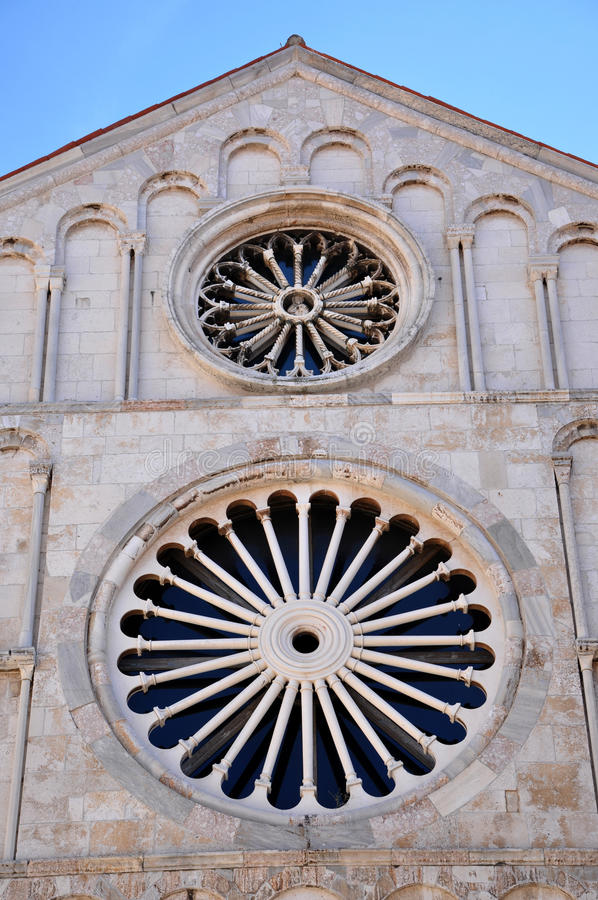 Kathedrale des Heiligen Anastasia Zadar, Kroatien lizenzfreies stockbild