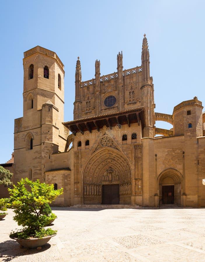 Kathedrale des Heiligen Mary Huesca stockfotografie