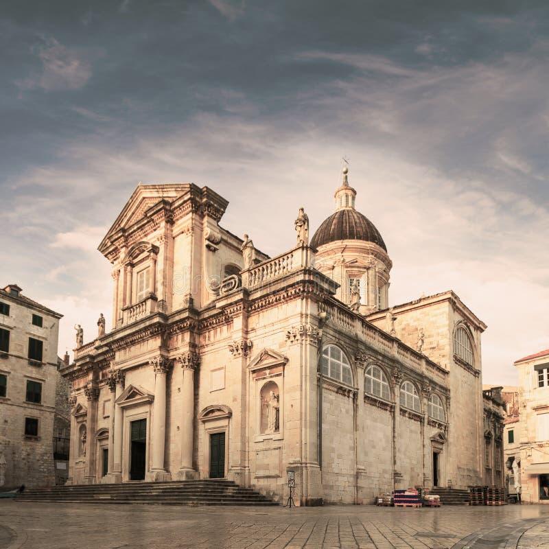 Kathedrale - die Annahme von Jungfrau Maria dubrovnik kroatien lizenzfreies stockfoto
