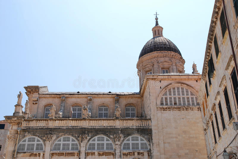 Kathedrale in Dubrovnik lizenzfreie stockfotos