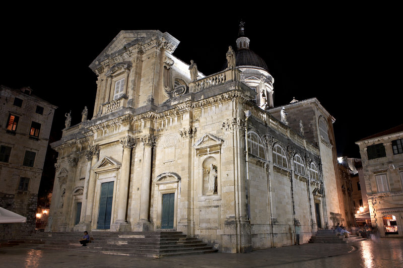 Kathedrale - Dubrovnik, Kroatien. lizenzfreie stockfotografie