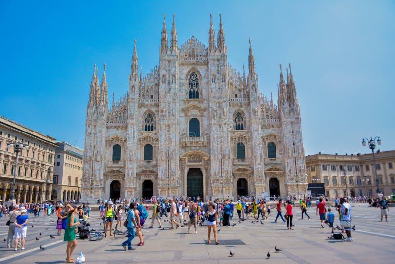 Kathedrale in einem Mailand lizenzfreies stockbild