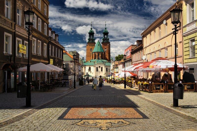 Kathedrale in Gniezno stockbild