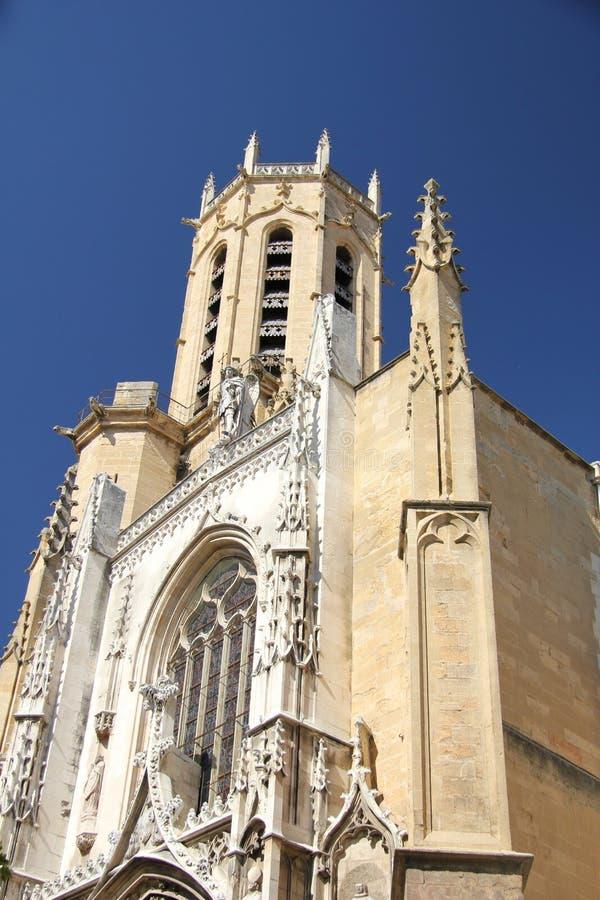 Kathedrale Heiliges-Sauveur d'Aix in Aix-en-Provence lizenzfreies stockfoto