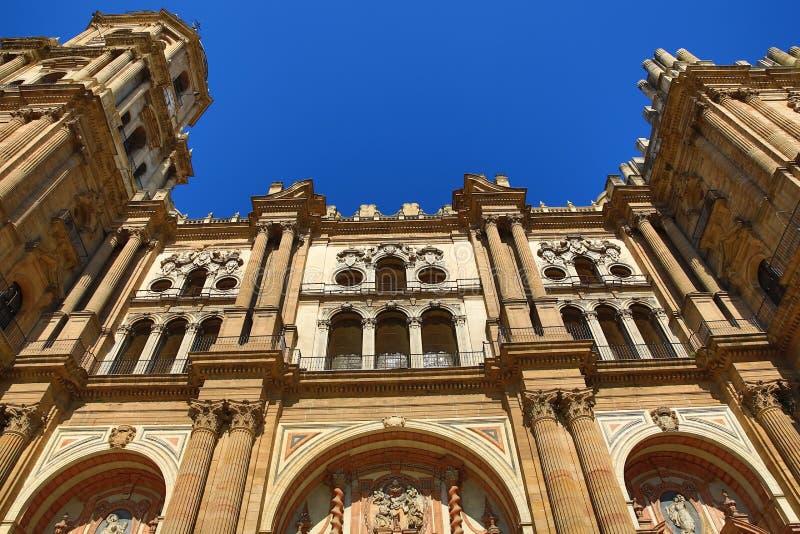 Kathedrale, Histiric-Gebäude, Màlaga, Spanien lizenzfreies stockfoto