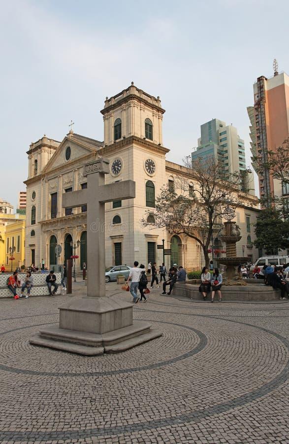 Kathedrale Igreja DA Sé (Kirche der Geburt Christi unserer Dame) in Macao stockfoto