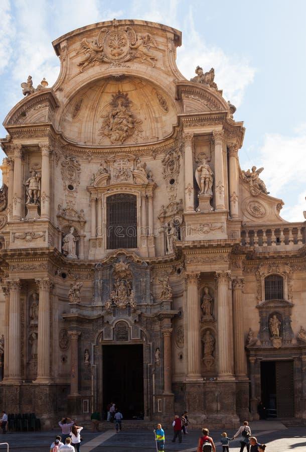 Kathedrale-Kirche von Heiligem Mary in Murcia spanien stockbilder