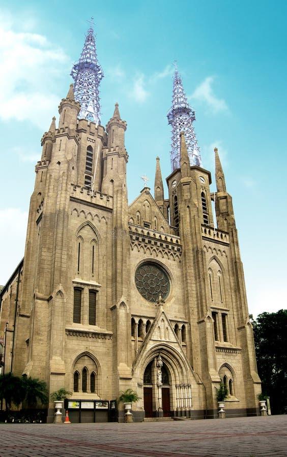 Kathedrale-Kirche von Indonesien lizenzfreie stockfotos