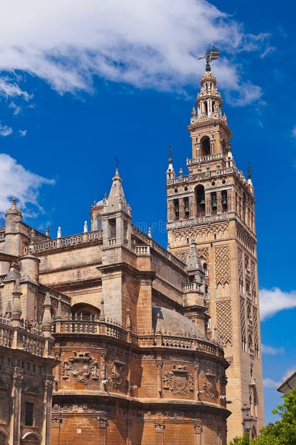 Kathedrale-La Giralda in Sevilla Spanien stockbilder