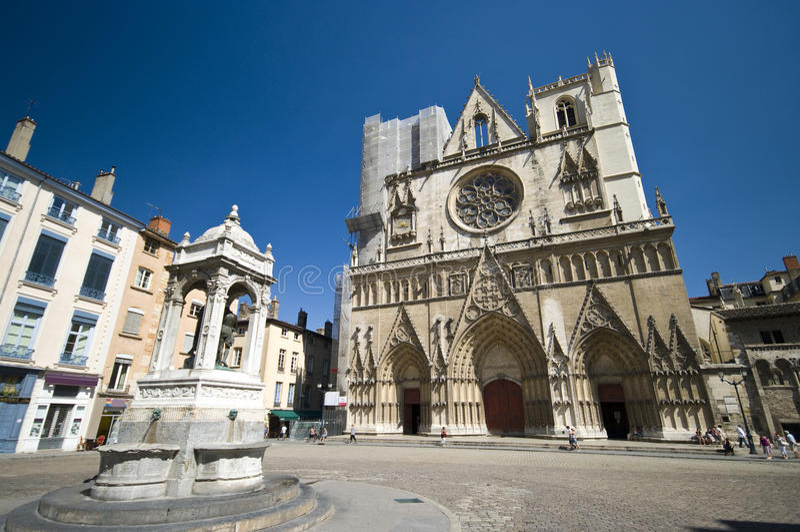 Kathedrale Lyon-Notre Dame lizenzfreies stockfoto