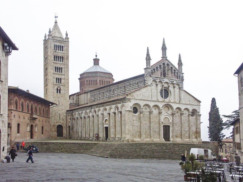 Kathedrale in Massa Marittima stockfotos