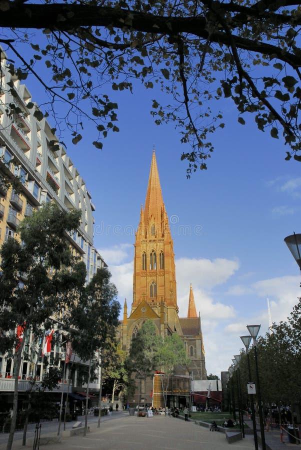 Kathedrale, Melbourne stockfoto
