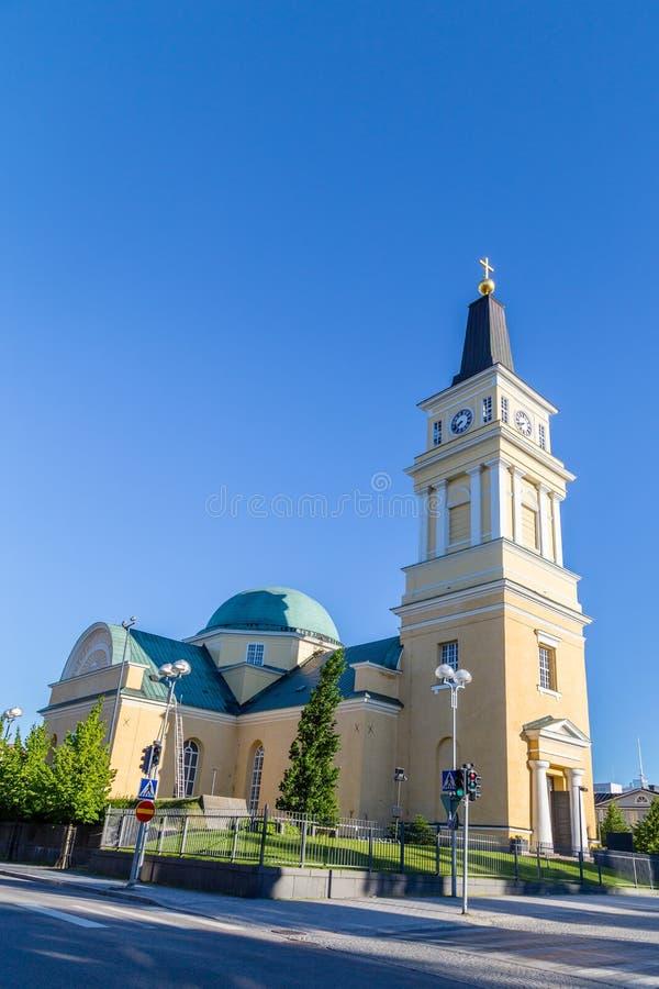 Kathedrale nahe der Mitte von Oulu, Finnland lizenzfreie stockfotos