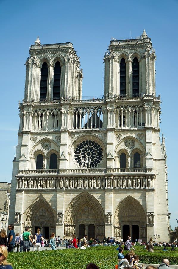 Kathedrale-Notre-Dame de Paris stockfotos