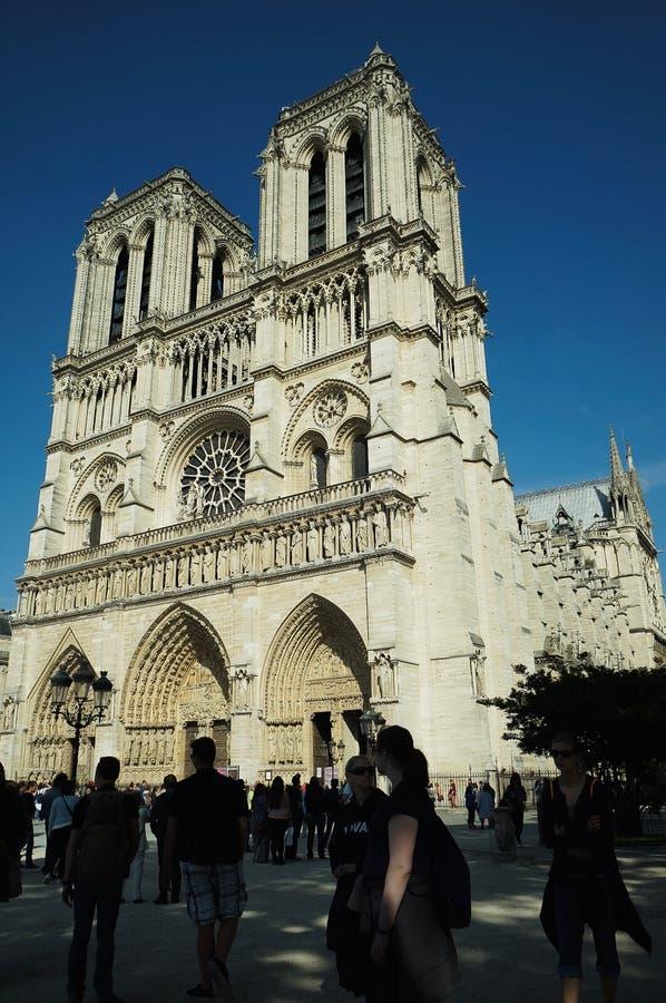 Kathedrale-Notre-Dame de Paris stockfoto