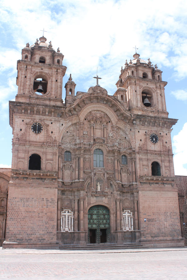 Kathedrale in Piazzade Armas Cuzco Peru stockfotografie